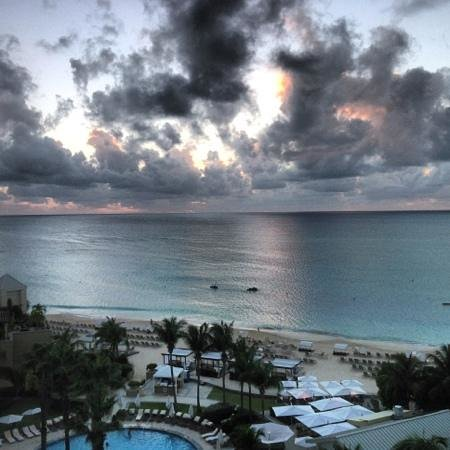 The Ritz-Carlton, Grand Cayman: The beach at dusk.