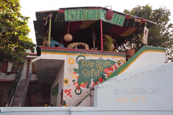 Raju Guest House: Cafe from Outside..