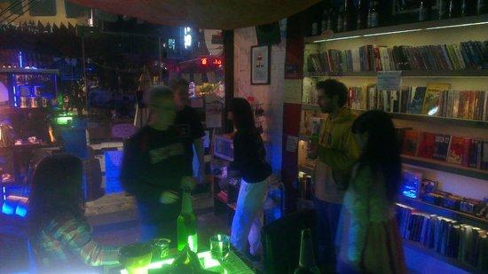 the DMZ bar: Party at night
