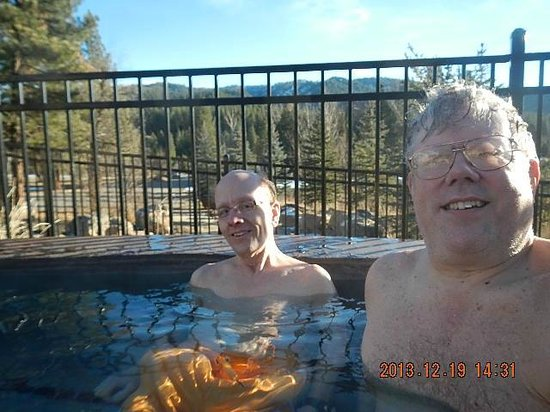"""""""The Springs"""", SR-21, Idaho City ID Hot Tub (106F), Dave Cromwell & Donald Larson from Seattle W"""