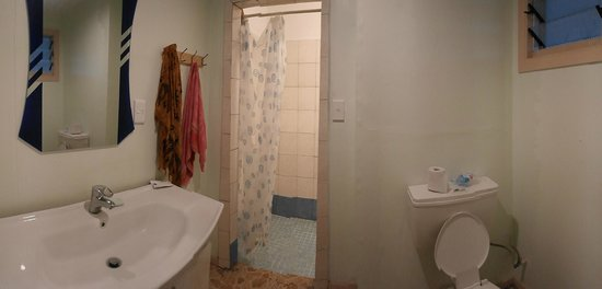Faofao Beach Fales: Душ и туалет