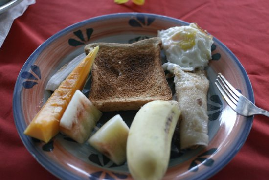 Faofao Beach Fales: Вот и все, что дают на завтрак