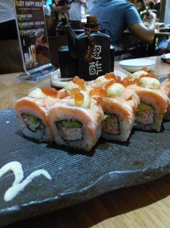 En Japanese restaurant: awesome rolls