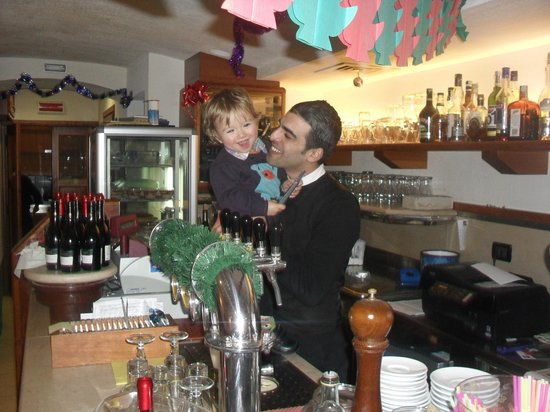 Ristorante Pizzeria Da Giorgio: My son being well looked after by the brilliant waiter