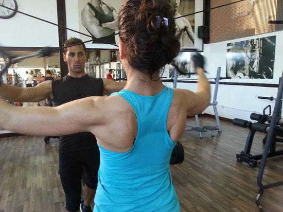 Mogán, España: as Personal trainer of Mariana