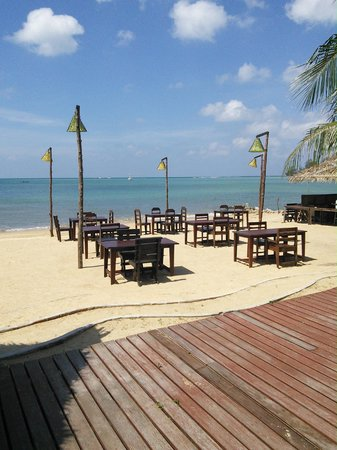 Loyfa Natural Resort: Restaurant et bar de plage