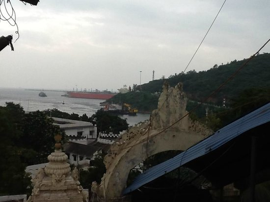Sri Venkateswara Temple : View from the temple: Entrance to the Canal