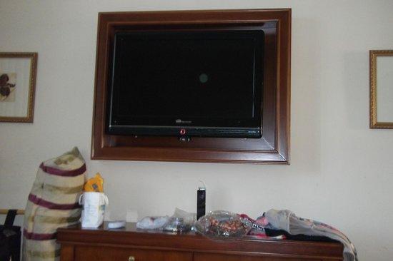 Intersur Recoleta: TV plasma en el dormitorio, hay otro igual en el pequeño living.,