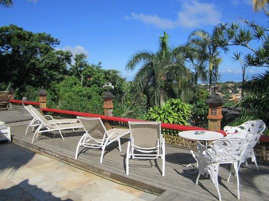 Aquabarra Boutique Hotel & Spa: Vista de la terraza en día de sol