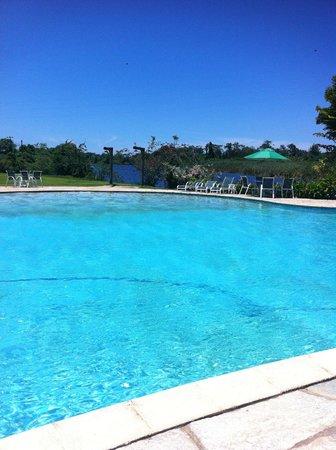 Hotel Do Bosque : Vista do quioscão em frente a piscina
