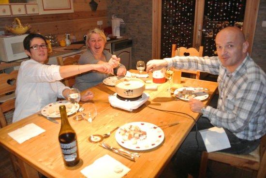 Les Dolines: fondue franc comtoise