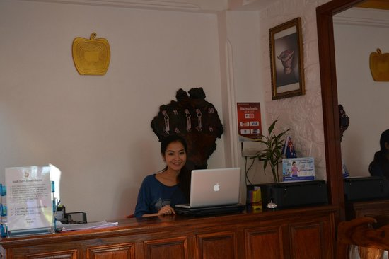 Apple Guesthouse: Reception Desk