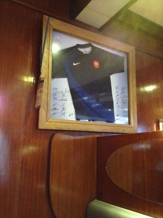 Brasserie Le Kilt : Maillot équipe France Rugby