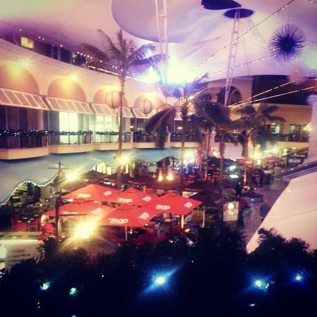 Mantra Towers of Chevron : View look down above the shopping centre and dinning area  (filtered )