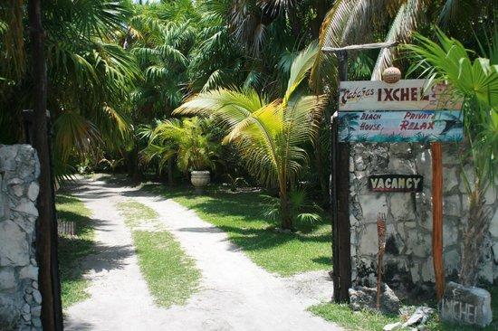 Ixchel Playa & Cabanas: Entering to Ixchel