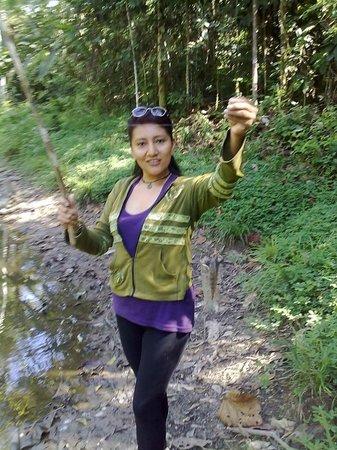 Isla Ecologica Mariana Miller Lodge: De pesca mmmm que bueno estuvo ;)