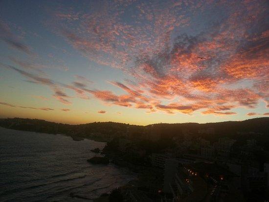HM Jaime III: beautiful sunset on Palma bay