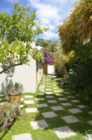 La Pension Guest House: Pathway to patio