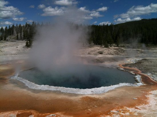 Teton Scenic Floats and Fly Fishing: Celestine Pool, Old Faithful area, Yellowstone