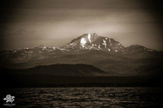 Lake Almanor: View of Lassen peak