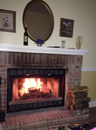 The Inn at Elk River: Fireplace in the room!!