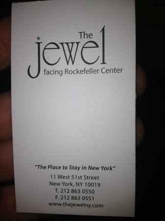 The Jewel facing Rockefeller Center: the jewel