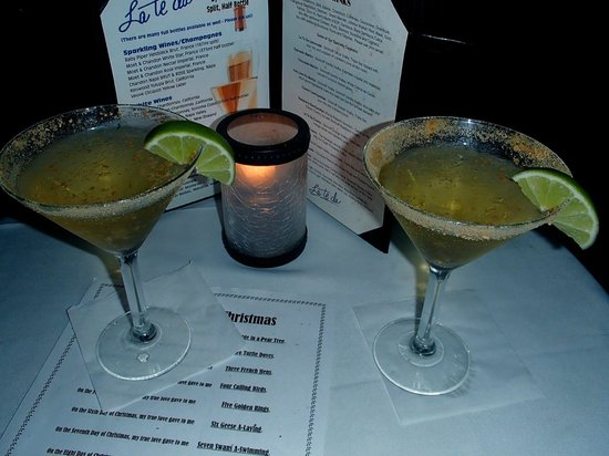 The Cabaret At La Te Da: key lime pie martinis