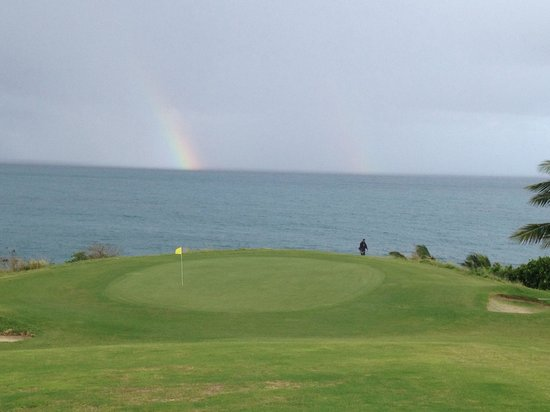 Buccaneer Golf Course: After the 15+ inches of rain, a beautiful day at the course. The rainbow is a plus!!!