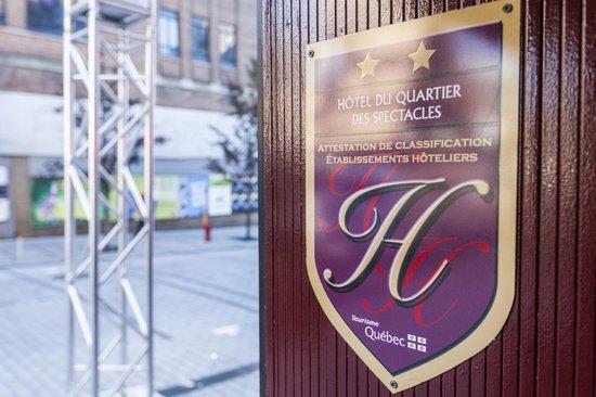 Hotel Quartier des Spectacles : Hotel Entrance