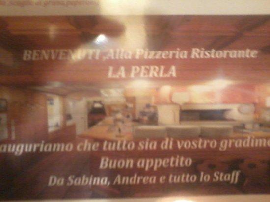 Ristorante Pizzeria la Perla: menu'