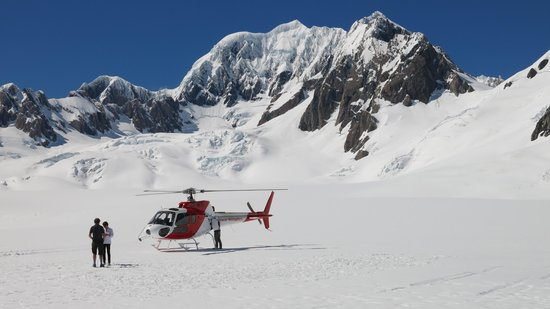 Glacier Helicopters: at the top
