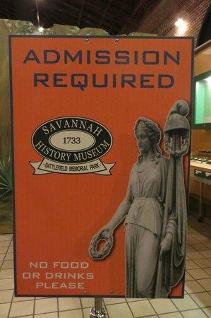 Savannah History Museum: Admission