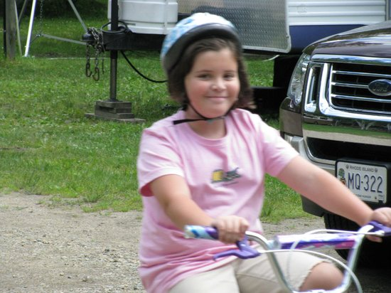 Country Bumpkins Campground and Cabins: Biking around campground