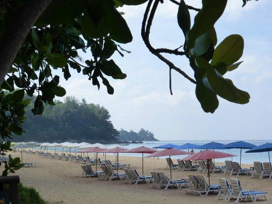 Naithon Beach House: Looking south from our beach chaise/umbrella