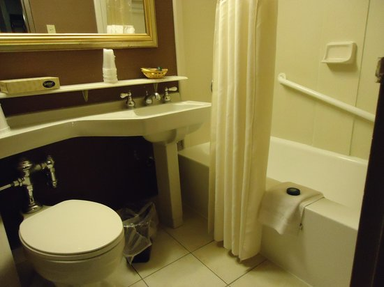 Fremont Hotel and Casino: The tiny bathroom