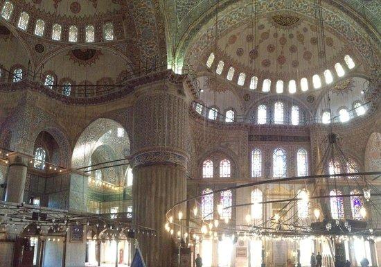 Blaue Moschee (Sultan-Ahmed-Moschee): interior mezquita azul