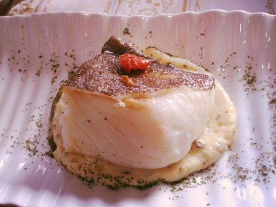 Dom Vinos: Bacalao con puré de patatas