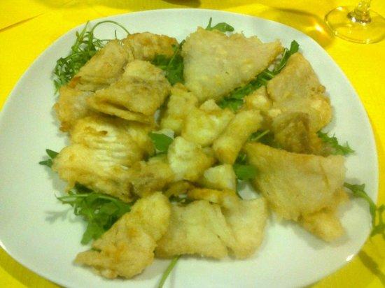 Cittanova, Italy: stocco fritto