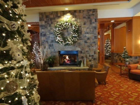 High Peaks Resort : Lobby Fireplace