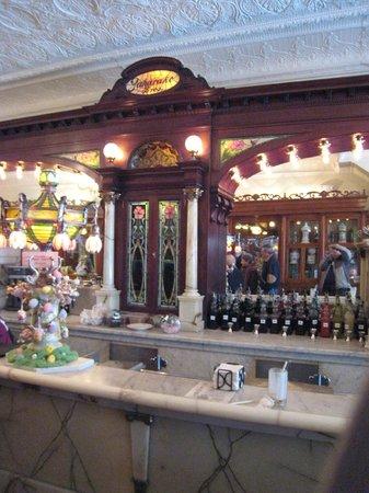 Zaharakos Ice Cream Parlor and Museum: restored soda fountain