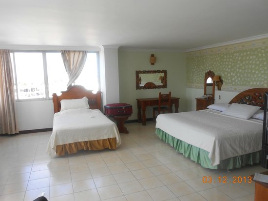 Sol Caribe Sea Flower Hotel: Vista de la habitacion , con dos camas