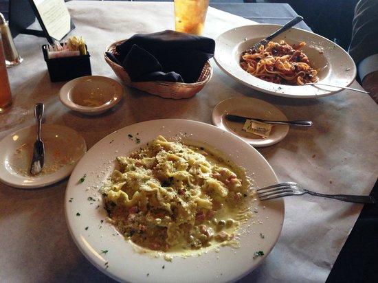 La Terrazza Restaurant: Farfalle Panna e Piselli & Spaghetti al Tonno e Pomodoro
