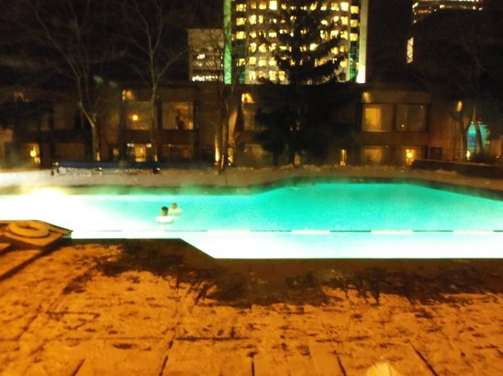 Hotel Bonaventure Montreal : -10 degrees and we are swimming in this wonderful pool