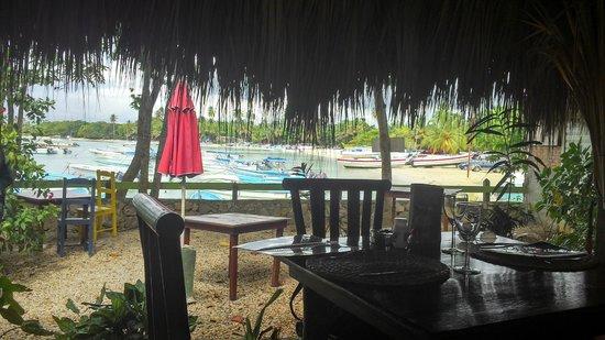 """Bamboo Beach : Depuis """"l'intérieur""""... le port de Bayahibe"""