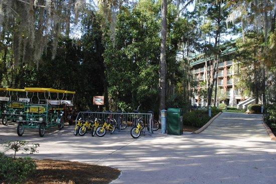 Boulder Ridge Villas at Disney's Wilderness Lodge : The bike rental area