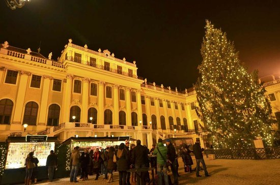 Schoenbrunn Palace Christmas Market : A beautiful palace