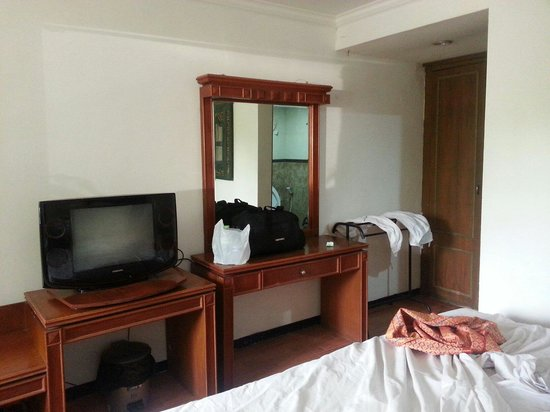 Hotel Tanjung Emas : Television and towels