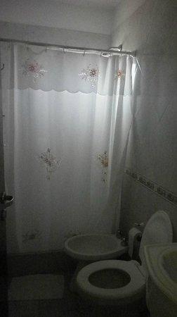 Hotel Tamanacos: Baño muy pequeño pero buena ducha