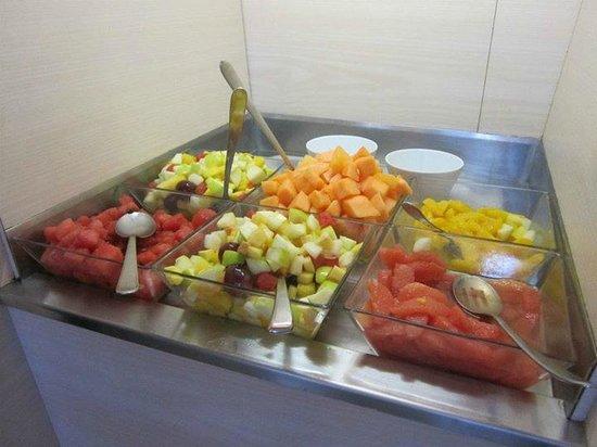 Breakfast buffet at Novotel Monte Carlo.