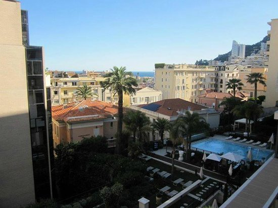 View from my balcony at Novotel Monte Carlo